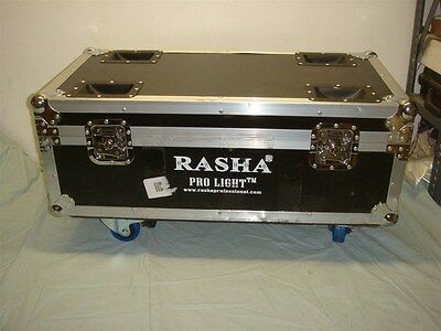 Rasha Pro Rolling Flight Case For Dj Led Par Lighting Or Other -Look!