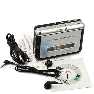 Retro Walkman Tape to PC USB Cassette-to-MP3 Capture Personal Audio Music Player