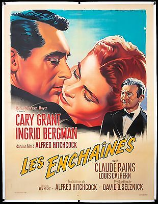 NOTORIOUS French 47x63 Cary Grant Ingrid Bergman Alfred Hitchcock filmartgallery