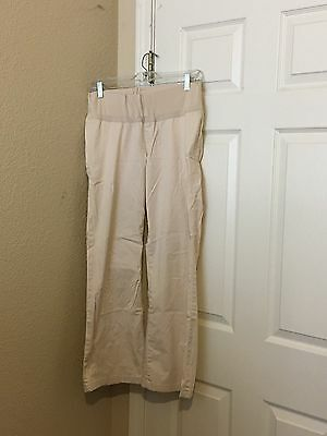 GAP MATERNITY STRETCH Light Beige PANTS SIZE 8