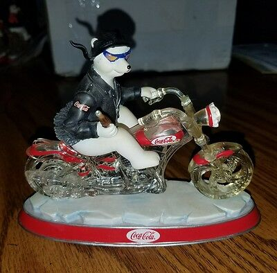 Coca-Cola Cruisers collection Polar bear on motorcycle Free n Easy with CocaCola