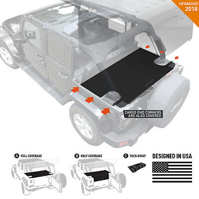 GPCA JKU Jeep Wrangler Trunk Cargo Cover LITE for model 2007-2018