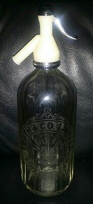 Rare Vintage Collectable Tooth & Co Limited Blue Bow Soda Water Syphon