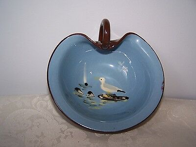 Vintage Babbacombe Pottery Torquay Seagull Handled Condiment / Candy Bowl