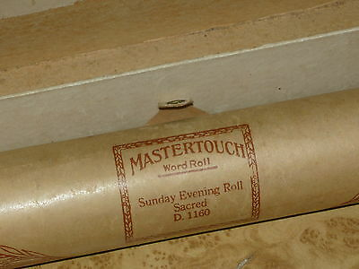 SUNDAY EVENING ROLL Antique Pianola Roll Mastertouch D1160 Vintage Piano