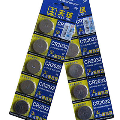 5x CR2025/CR2032 3V Batteries Coin Cell Button for Watch Toys Remote Classic