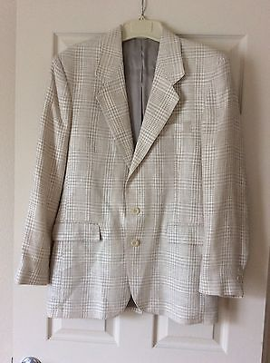 Vintage Levi Strauss and Co White Tweed Suit Coat Jacket Blazer - Made In USA