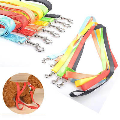 120cm Strong Nylon Pet Dog Puppy Lead Leash with Belt Buckle Collar Harness