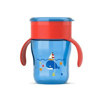 NEW Avent My First Grown Up Cup Red Lid Blue Cup 260ml from Baby Barn Discounts
