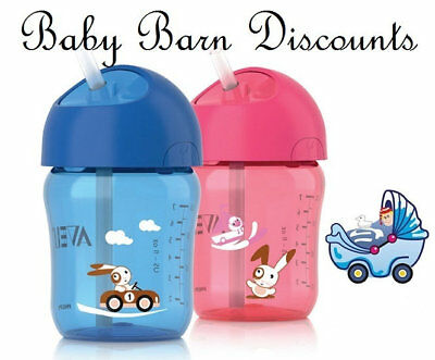 NEW AVENT - Straw Cup 12m+ Blue 260ml from Baby Barn Discounts