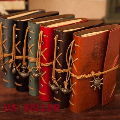 Classic Vintage Synthetic Leather Retro  Blank Journal Travel Notepad Notebook