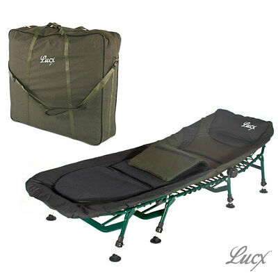 Lucx® 8 Legs Bedchair  + Carry Bag / Karpfen Angel Liege +Transport Tragetasche