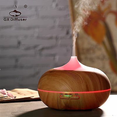 GX Diffusers Essential Oil Aroma Diffuser LED Ultrasonic Air Mist Purifier 300ML