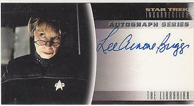 Star Trek Insurrection Movie Trading card Autograph card Lee Arnone-Briggs NM/M