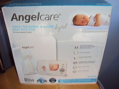 NEW - Angelcare AC1300 Digital Video, Movement and Sound Baby Monitor - White