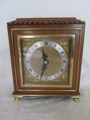 Superb 20th Century Mahogany Bracket Clock by Elliott Retailed Hamilton & Inches