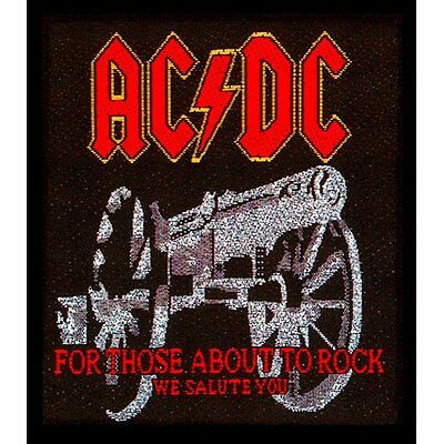 AC/DC for those about to rock Patch 4x3 inch
