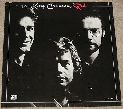 King Crimson 1974 Red Us Atlantic Promo Poster Vintage Fripp Wetton Bruford