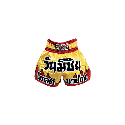 Yokkao Red Flames Muay Thai Shorts - Yellow & Red Flames