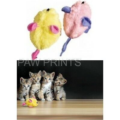 Kong Kitten Cat Cuddly 2 Pack Mice + Catnip And Crinkle Foil Sound Toy