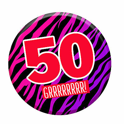 50th Birthday Badge Age 50 Today 76mm Pin Button Men Women Party Decorations