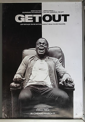 Cinema Poster: GET OUT 2017 (Advance One Sheet) Daniel Kaluuya Allison Williams