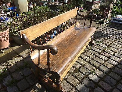 Antique New England Rocking Bench - Fabulous