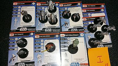 I Star Wars Miniatures Sith 15 Mini Darth Sidious Hologram Ulic Troopers Droid