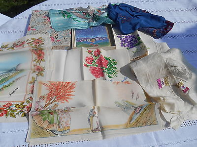 Vintage Ladies Hankerchiefs Boxed with Lace Embroidered Bag True Vintage New