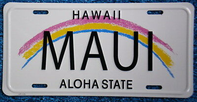 "Hawaiian ""MAUI"" Novelty License Plate from Hawai"