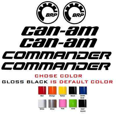 (#612) Brp Can-Am Commander Hood 800 1000 Max Xt Turbo Sticker Decal
