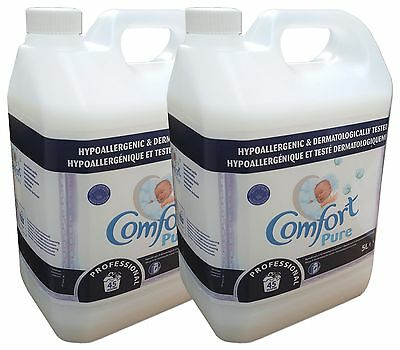 Comfort Pure Fabric Conditioner  2 x 5 Litre 45 wash fabric softener 90 washes