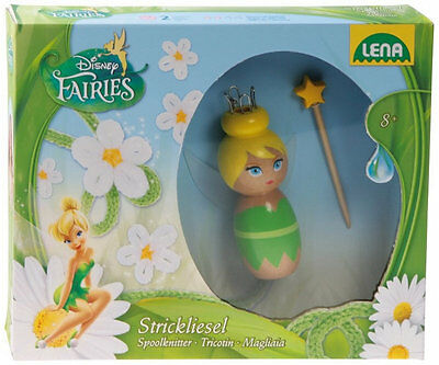 ♥ Disney Fairies Strickliesel Set aus Holz Tinkerbell LENA Stricken NEU OVP ♥
