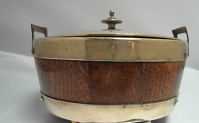 Vintage Wooden & Plated Butter Dish