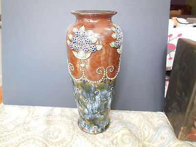 Superb Royal Doulton/Lambeth Art Nouveau Vase signed Louisa Wakely