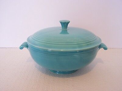 Vintage Fiesta Fiestaware  Turquoise Covered Casserole Bowl