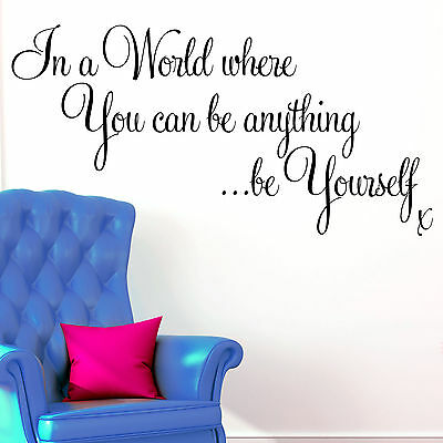 Wall Sticker Quote - Motivational Inspirational Office Be Yourself Decal Art