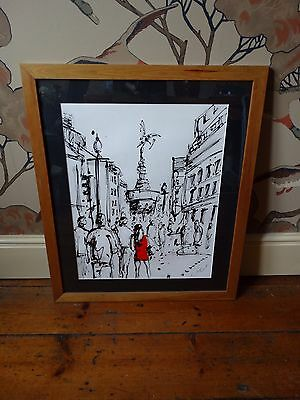 Keith Mcbride Acrylic Painting Piccadilly Contemporary London Artist Signed Coa