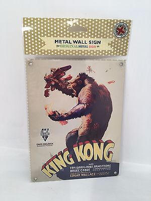Vintage Retro Metal Wall Plaque Sign King Kong Poster Film Gift BRAND NEW SEALED