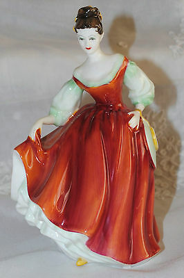 Royal Doulton Figurine Fair Lady Red HN 2832 Circa 1962 England MINT