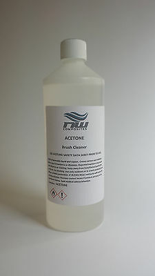 1L ACETONE (99.5%)  Nail Varnish Remover, Next Day Delivery, Irish Seller.