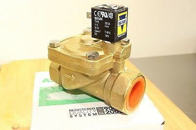 """ASCO Sirai 1"""" Brass Pilot Operated Solenoid Valve 2-way Normally Closed 12v DC"""