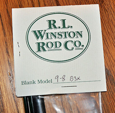Winston B3x - Boron IIIx 8WT 9FT Fly Rod Blank & Kit with Free Shipping!