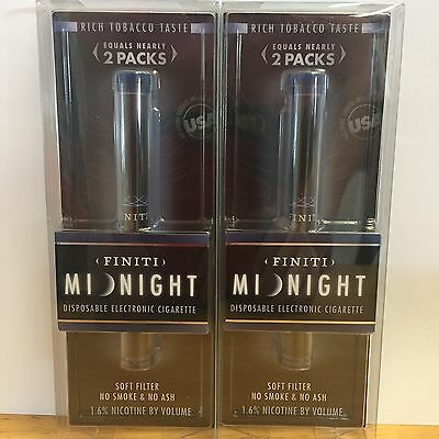 2 Finiti Midnight Disposable Electronic New In Package
