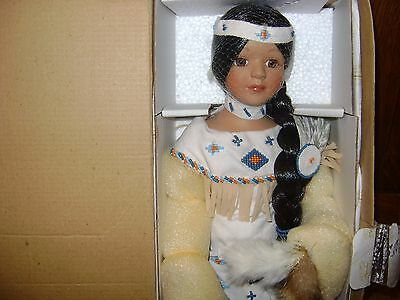 Heritage Signature Collection Native American Porcelain Doll - NIB With CofA