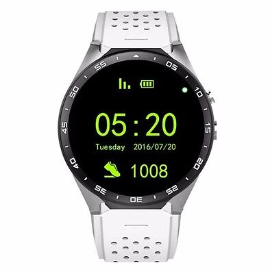 KW88 Smartwatch Android 5.1 Amoled SIM Card GooglePlay WiFi GPS Heart Rate