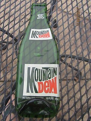 Vintage MOUNTAIN DEW Flat Soda Bottle - Ready to hang