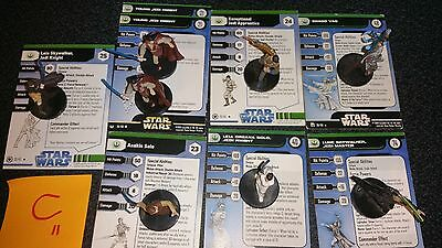 C Star Wars Miniatures New Republic 8 Mini Vao Leia Skywalker Solo Exceptional