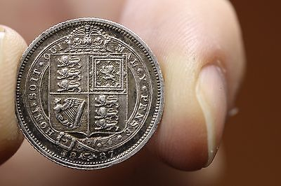 1887 Great Britain 6 Pence Silver KM-760  (1386)