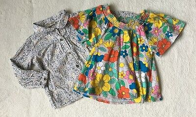 ***Next baby girl Floral tops blouses x 2 12-18 months VGC***